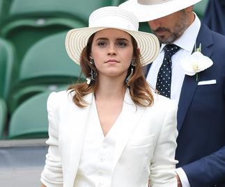 Emma Watson at Wimbledon.