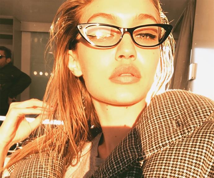 Gigi Hadid selfie.