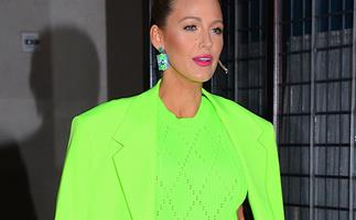 blake lively green suit