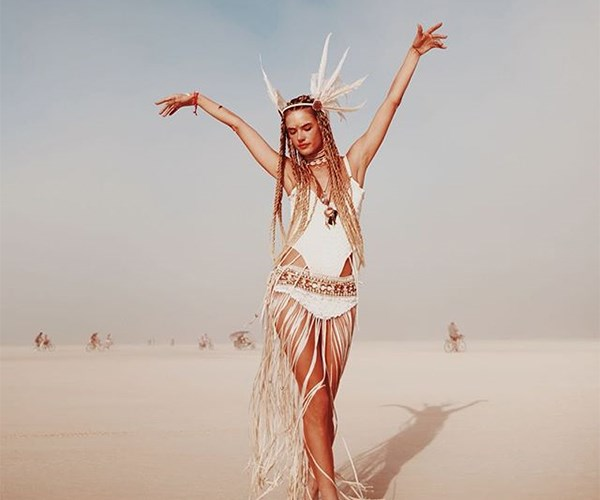 Alessandra Ambrosio Burning Man
