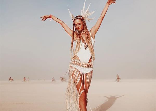 Alessandra Ambrosio Burning Man