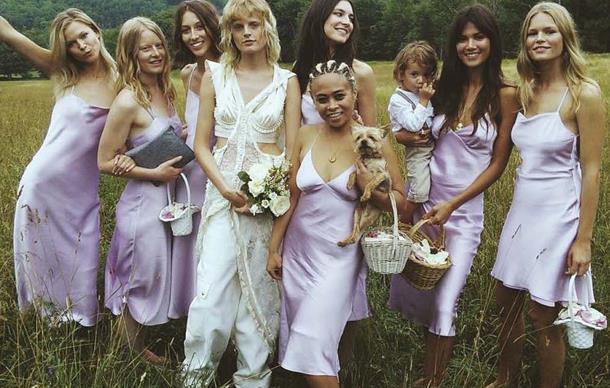 Hanne Gaby Odiele bridesmaids.