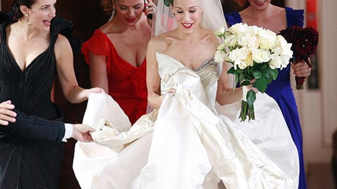 Sex and the City's Carrie wedding.