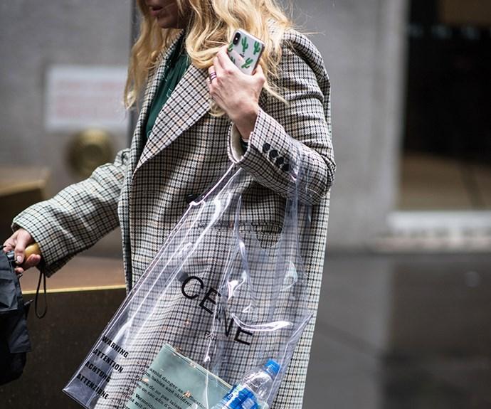New York Fashion Week street style.