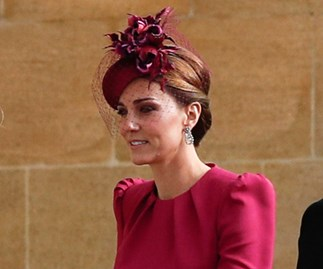 Kate Middleton at Princess Eugenie's wedding.
