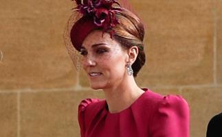 Kate Middleton at Princess Eugenie's wedding.