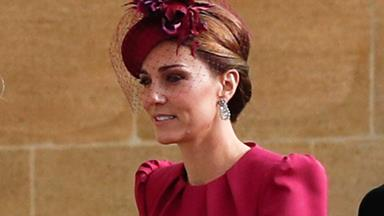 Kate Middleton Arrives Wearing Alexander McQueen For Princess Eugenie's Wedding