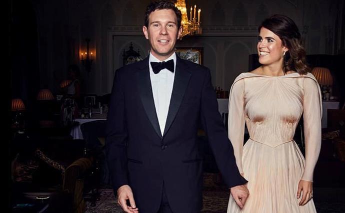 Princess Eugenie's reception wedding dress.
