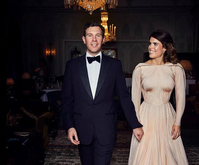 Princess Eugenie's reception wedding dress.