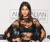 Georgia Fowler Sports A Naked Dress At The Australian Fashion Laureate
