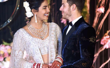 Priyanka Chopra Wore A Wedding Dress With A 22-Metre Veil And The Internet Lost It