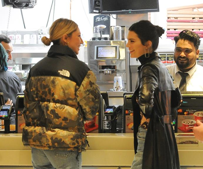 Kendall Jenner in McDonald's.