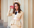 Keira Knightley Wore A Yellow Chanel Tweed Suit To Receive An OBE
