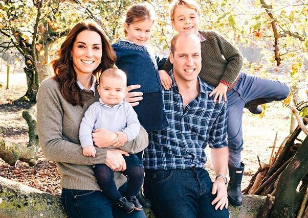 Royals Christmas Card outfits