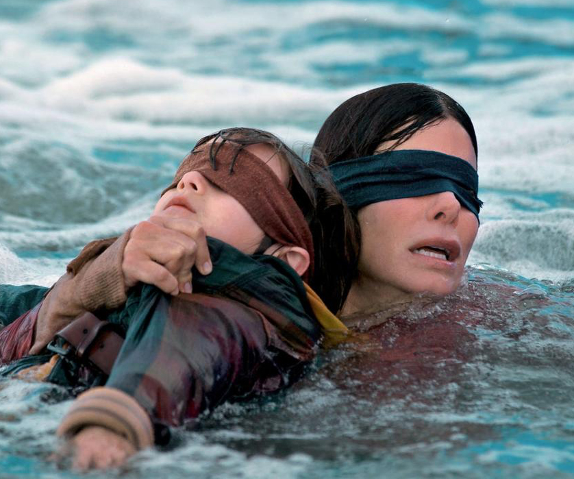 People Are Now Showing Up at the Bird Box House in Blindfolds