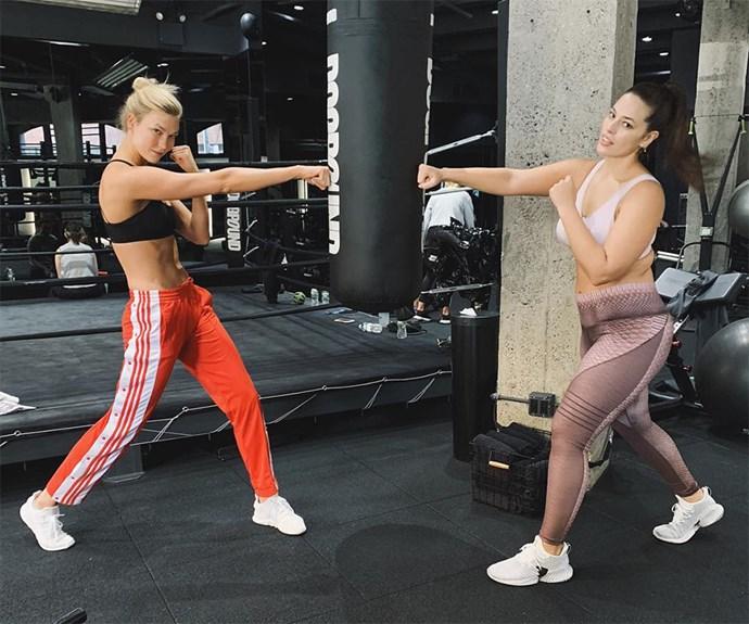 Karlie Kloss boxing.