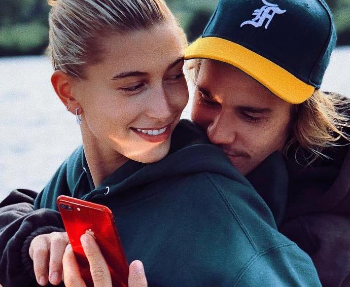 Hailey Baldwin and Justin Bieber.