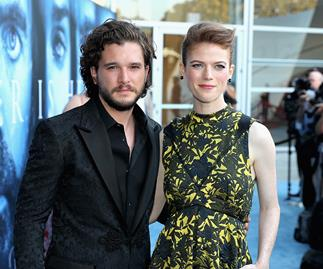 Kit Harington and Rose Leslie.