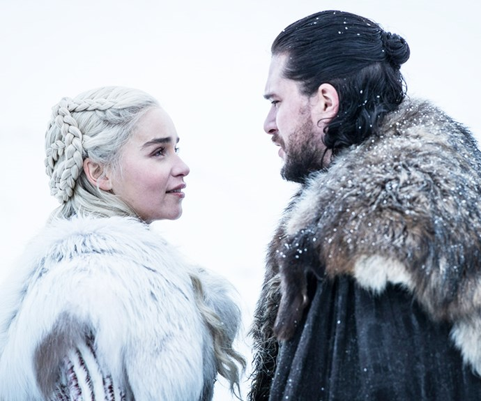 Jon and Daenerys from 'Game of Thrones.'