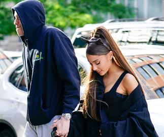 Ariana Grande and Pete Davidson.