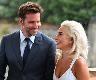 Lady Gaga and Bradley Cooper.