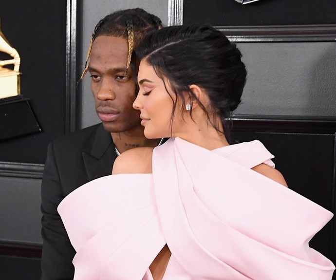 Kylie Jenner and Travis Scott at the 2019 Grammy Awards