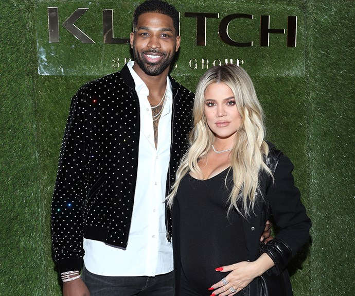 Khloe Kardashian and Tristan Thompson.