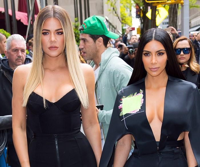Kim and Khloe Kardashian.