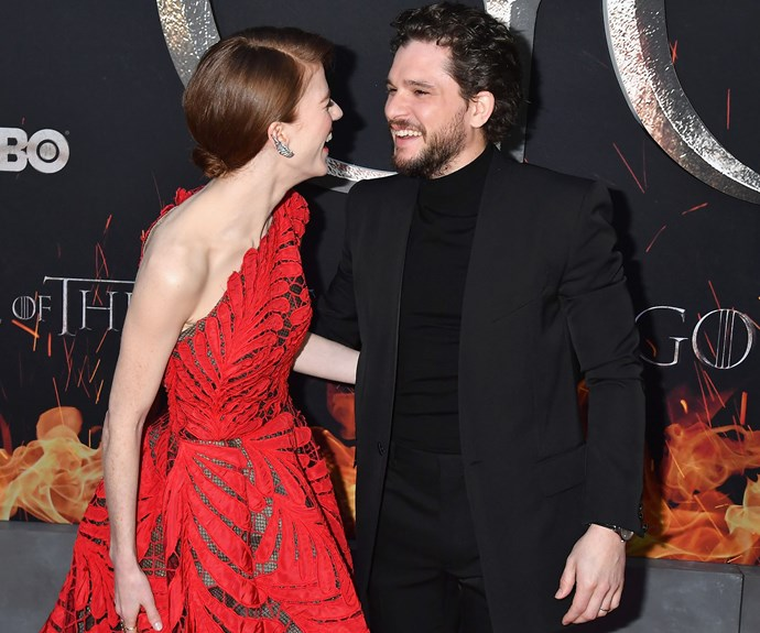 Kit Harington Rose Leslie At The Game Of Thrones Season 8 Premiere