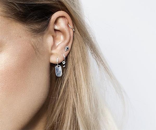 Helix ear piercing.