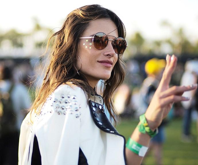 Alessandra Ambrosio at Coachella.