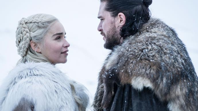 Daenerys Targaryen and Jon Snow in Game of Thrones season 8