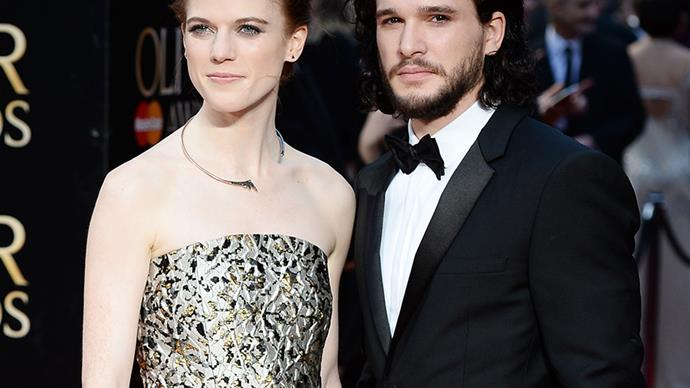 Rose Leslie and Kit Harington.
