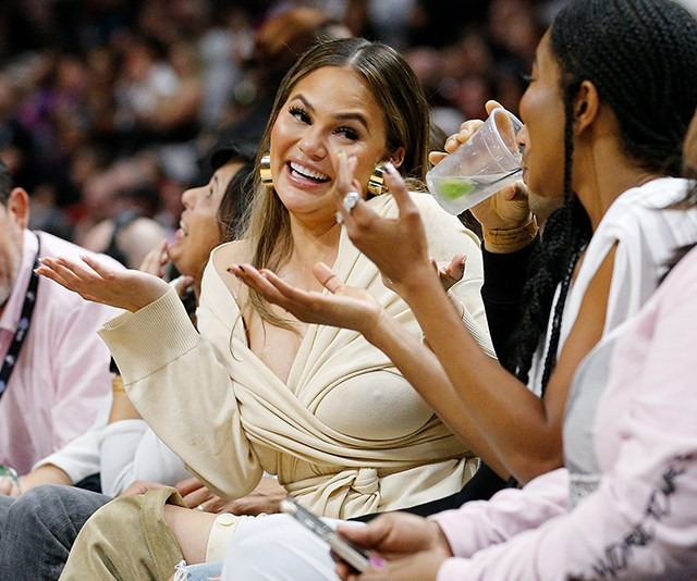 An NBA Player Fell On Chrissy Teigen And John Legend And The Memes Are Incredible