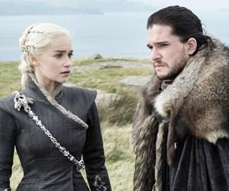 Daenerys Targaryen and Jon Snow from 'Game of Thrones.'