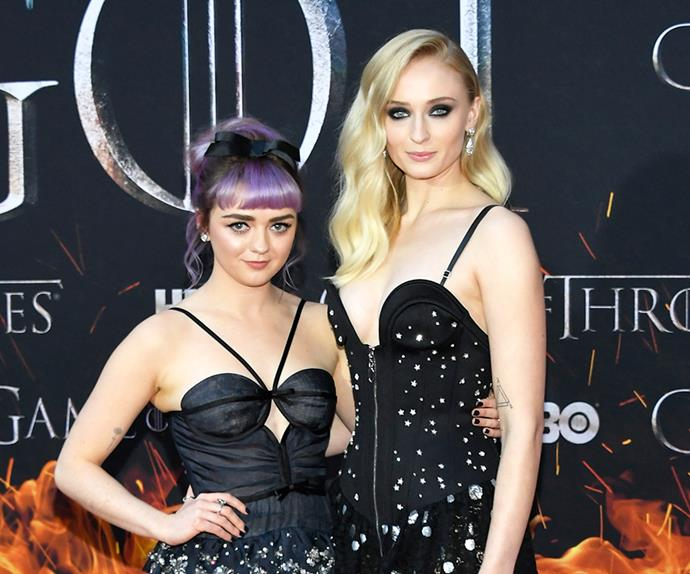 Sophie Turner and Maisie Williams.