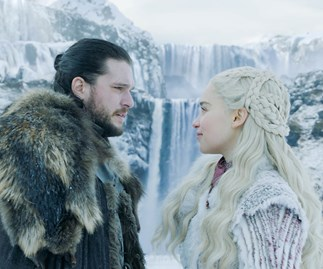 Jon Snow and Daenerys Targaryen in 'Game of Thrones' season 8, episode 1.