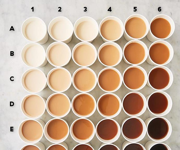 coffee milk gradient chart