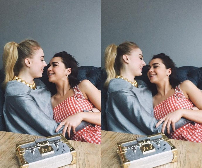 Maisie Williams and Sophie Turner.