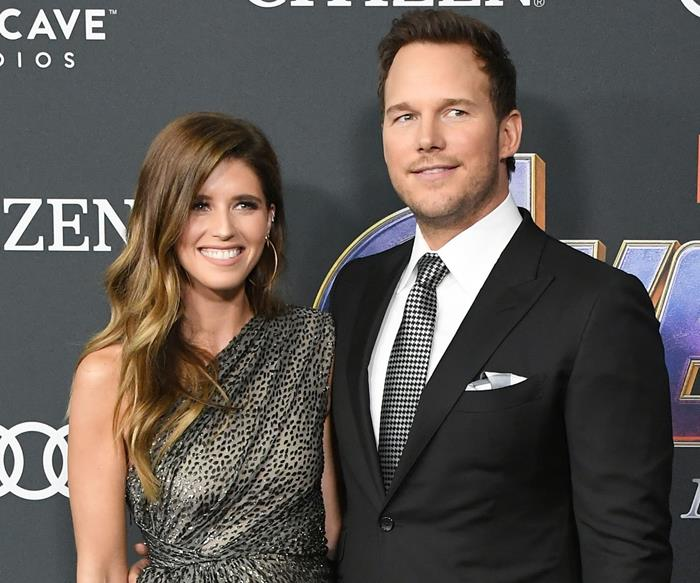 avengers endgame red carpet chris pratt katherine schwarznegger