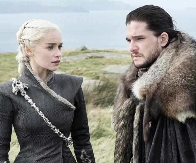 Daenerys Targaryen and Jon Snow in 'Game of Thrones.'
