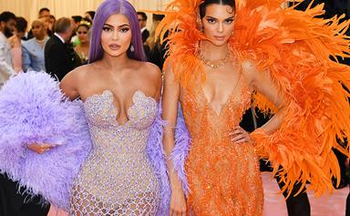 Kendall And Kylie Jenner Just Wore Matching Feathered Looks To The Met Gala