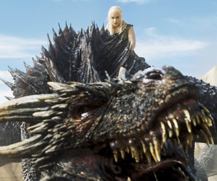 Drogon and Daenerys.