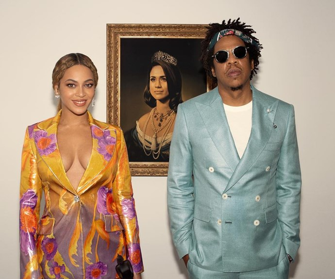 Meghan Markle Responded To Beyoncé And Jay Z's Portrait Tribute With A Single Emoji
