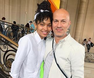 Yara Shahidi with her father
