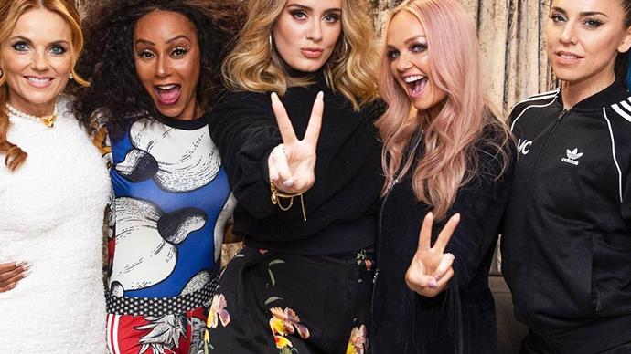 The Spice Girls with Adele