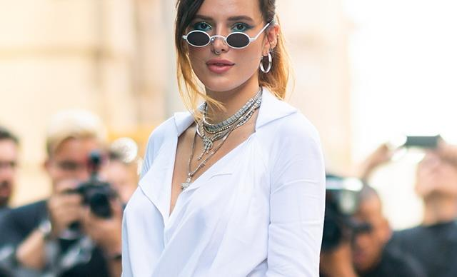 bella thorne white shirt dress