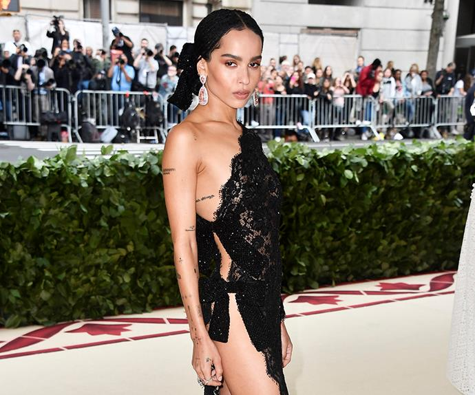 Zoe Kravitz at the Met Gala.