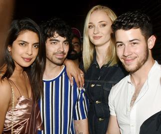 Priyanka Chopra, Joe Jonas, Sophie Turner and Nick Jonas.