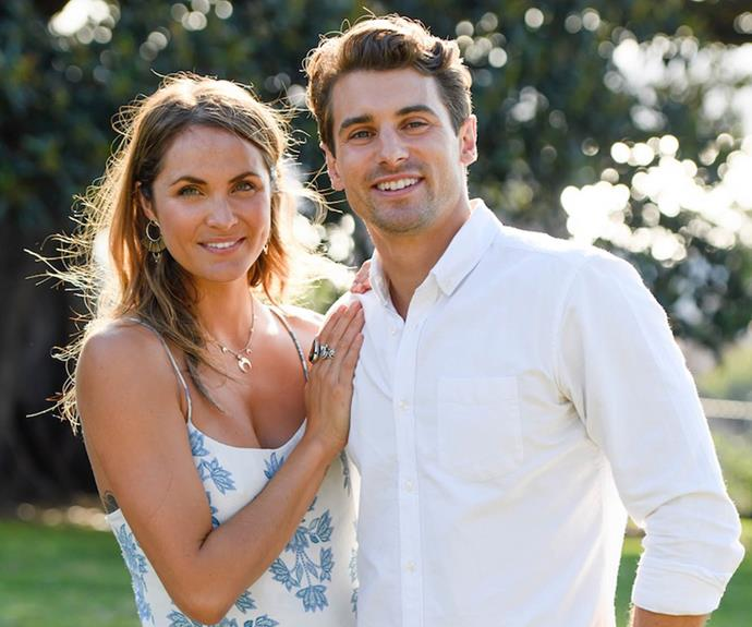 Matty J and Laura from The Bachelor Australia.